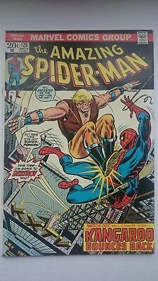 Amazing Spiderman # 126  Vs  Kangaroo  Vf+  Cents  1973
