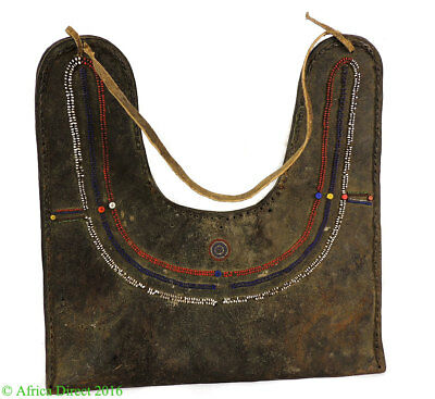 Maasai Olbene Beaded Leather Bag Kenya African Art