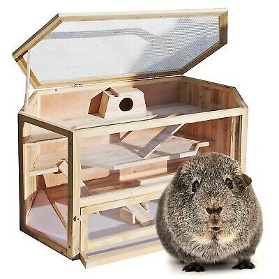 XXL wodden hamster cage mouse rodent rat stable housing enclosure