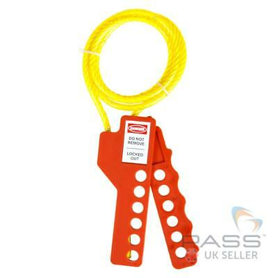LOTO Squeezer Multi-Purpose Cable Lockout and Hasp -  Insulated Nylon Core,1m