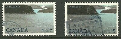 Canada, USED, 2 copies, # 1084, La Maurice Nat.Park, both printings, CBN & BABN