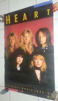 Heart Music Group 1990 23X35 Poster Winterland Productions #8087 Rock N Roll