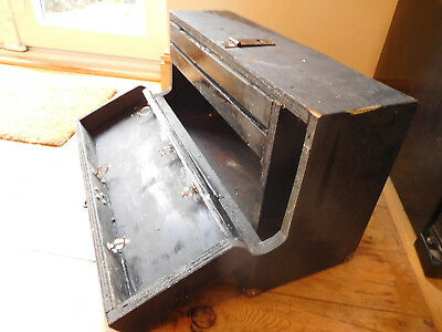 Found*vintage  Wooden Hand Made Carenters Drawed/ Compartment Tool Box