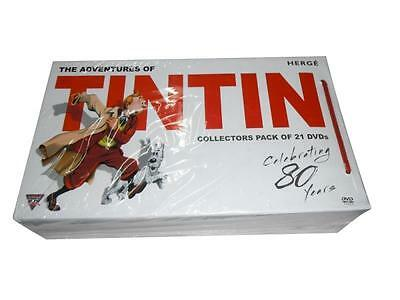 The Adventures of TinTin: Complete Series All 39 Episodes (DVD, 21-Disc Set)
