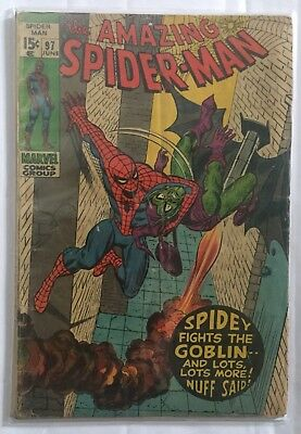 AMAZING SPIDER-MAN # 97 Marvel Comic (June 1971) Non CCA /Drug issue