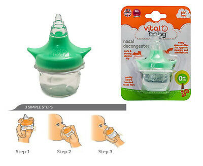 Baby Safe Nose Nasal Aspirator Cleaner Aspirator Decongester Sucker Vital