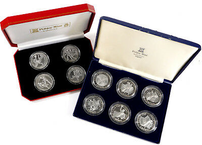 1990 & 2002 Isle of Man World Cup Coin Sets
