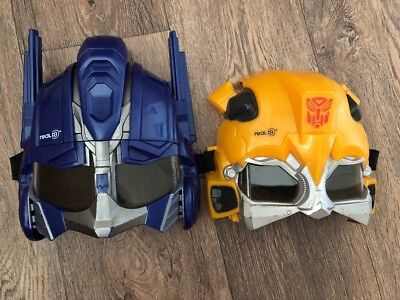 Two Transformers Real 3D Optimis prime And bumble bee Rare