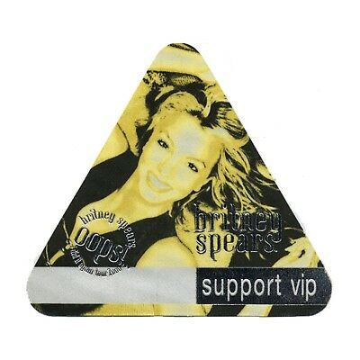 Britney Spears authentic Support VIP 2000 tour Backstage Pass