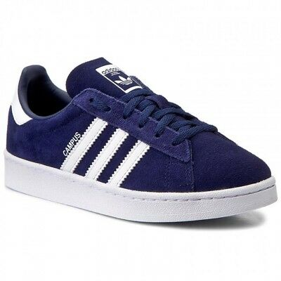 the best attitude eb125 b9d99 Scarpe sportive bambino ADIDAS Campus PS suede in nabuk blu e bianco BY9593