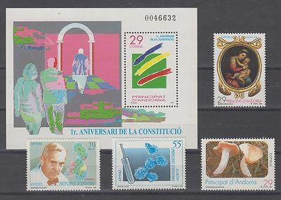 Andorra Española (1994) Year Complete New Free Stamp Hinges Mnh - Edifil 241/45