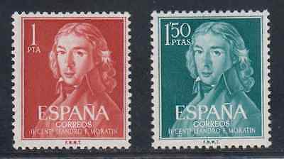 Spain (1961) New Free Stamp Hinges Mnh Spain - Edifil 1328/29 Moratin
