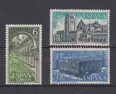ESPAGNE (1969) NEW MNH SPAIN - EDIFIL 1946/48 Sc# 1592/94 STRIKES MONASTERY