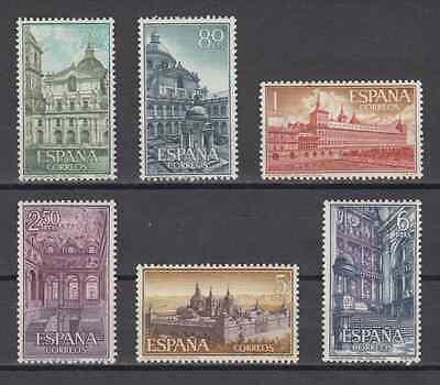 Spain (1961) New Free Stamp Hinges Mnh Spain - Edifil 1382/87 The Escorial
