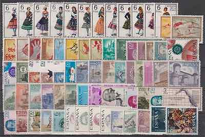 Spain Year 1967 Complete New Free Stamp Hinges Mnh Spain With Costumes