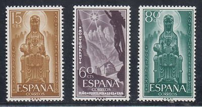 Spain (1956) Mnh New Free Stamp Hinges - Edifil 1192/94 Year Jubilee Montserrat