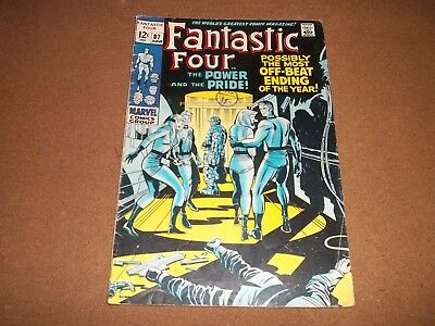 1960s  adventure comic FANTASTIC FOUR no 87
