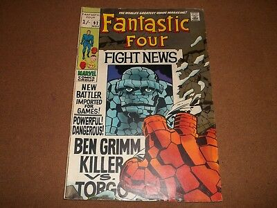 1960s  adventure comic FANTASTIC FOUR no 92