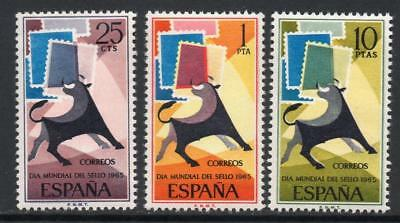 Spain (1965) Series New Free Stamp Hinges Mnh -Scot 1667/69 Day Of The