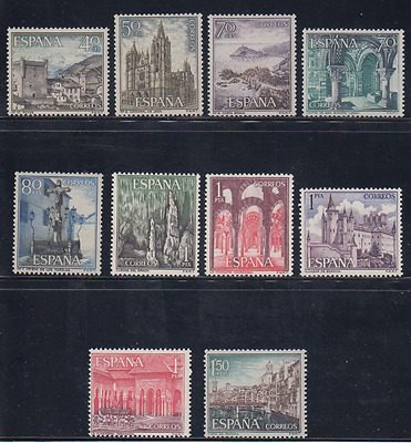 Spain (1964) New Mnh Spain - Edifil 1541/50 Turismo Castles Monuments