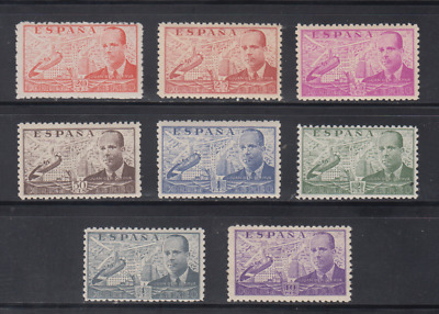 Spain (1941) New Free Stamp Hinges Mnh Spain - Edifil 940/47 Juan La Cierva