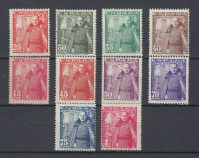 Spain (1948) Mnh New Free Stamp Hinges - Edifil 1024/32 Franco Castle Mota