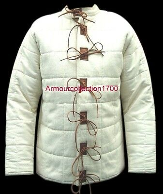 New Medieval thick padded Gambeson coat Aketon Jacket Armor reenactment SCA //..