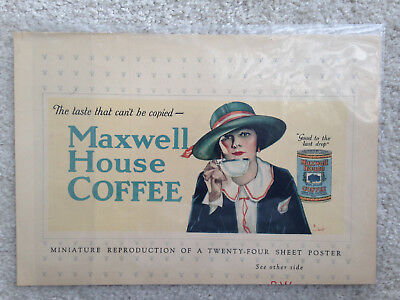 Cheek-Neal Maxwell House Magazine Ad Printer's Ink Monthly C.C. Beal