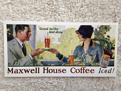 """Maxwell House Coffee """"Iced"""" Ad Uncertain of Origin or Age @7""""X3.5"""""""