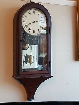 Rosewood Mirror back Anglo American Wall Clock