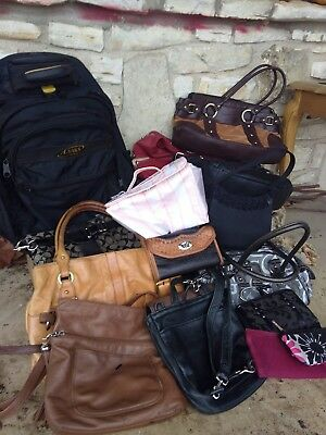 15 bag lot with Coach Ralph Lauren Kenneth Cole George Tommy Hilfiger...