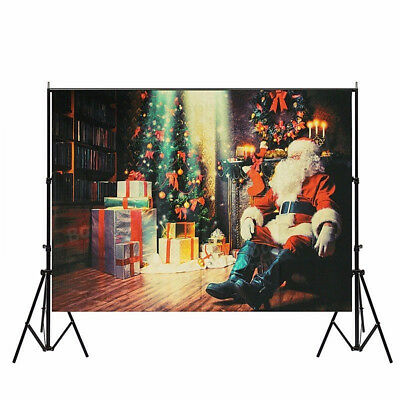Vinyl Christmas Santa Clause Photography Backdrop Photo Studio Props Background