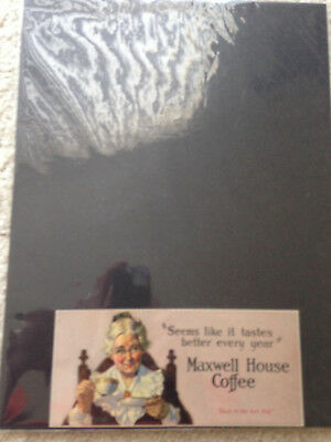 """Maxwell House Coffee Billboard Ad (lithograph) @3X6.5"""" Print Item From 1925"""