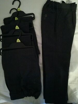Tesco boys clothes school trousers age 4-5yrs. 5 pairs. Grey