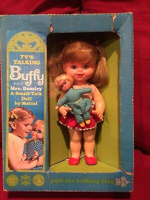 1967 Mattel Buffy and Mrs. Beasley - A Small Talk Doll- Original Box - Talking!