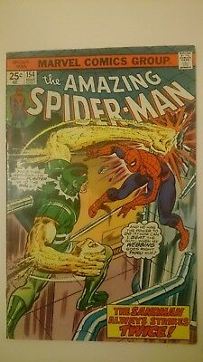 Amazing Spiderman # 154  Vf  Vs  Sandman  Cents  1976
