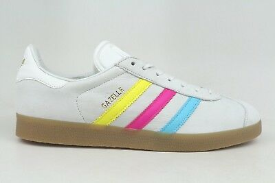finest selection bd05f eefb4 Adidas Originals Gazelle Gray Yellow Pink Blue Mens Sneakers BB5252 1801-51  NEW