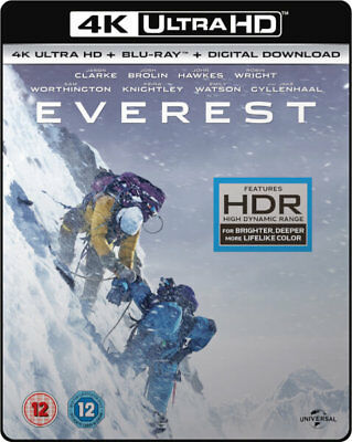 Everest 4K Ultra HD + Blu-ray + DD Slipcase UHD ATMOS Soundtrack UK STOCK