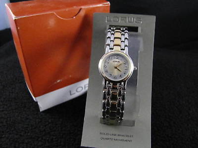 New Old Stock (NOS) Vintage LORUS By SEIKO Gold & Silver Face NEW BATTERY Watch