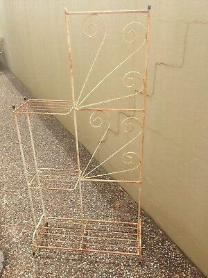 White Vintage Plant Stand