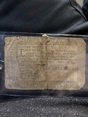 Old Colonial Paper Money 1777