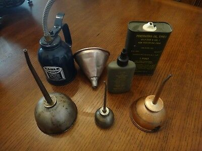 Vintage Oil Cans Military,Eagle,Union Oil Can Collection
