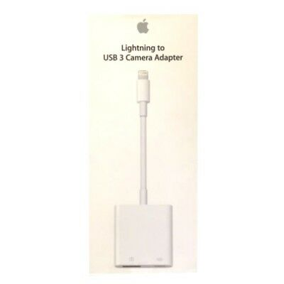 Genuine Original Apple Lightning To USB 3 Camera Adapter Compatible With All ...