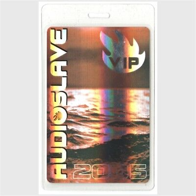 Audioslave authentic 2005 concert Laminated Backstage Pass Out of Exile Tour VIP