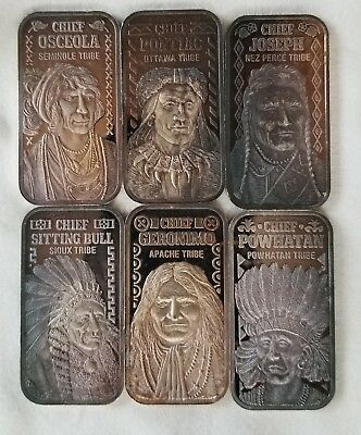"Silver Mint - ""The Great Indian Chiefs"" 20 gram Silver Ingot Collectors Edition"
