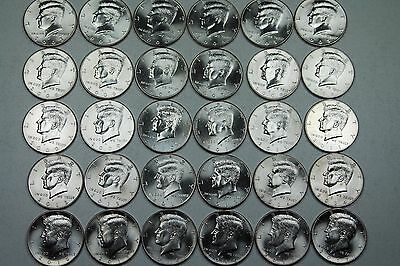 2000 - 2017 Kennedy Half 36 Coin Brilliant Uncirculated  Mint Roll Set