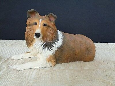 Sheltie Sheepdog Danbury Mint Figurine Large Faithful Friend