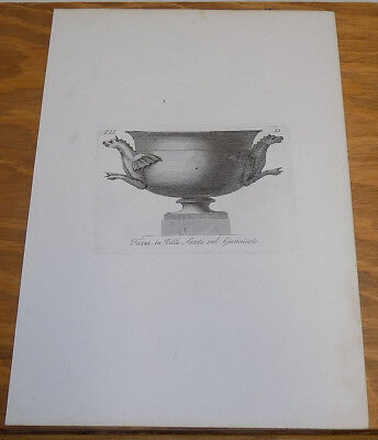 Early 1800s Antique Print///ANCIENT HOLY ITALIAN CUP DESIGN