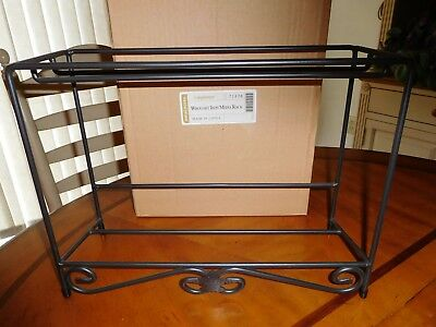Longaberger Wrought Iron Media Rack NIB