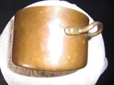 Small Copper coated metal pot with lid